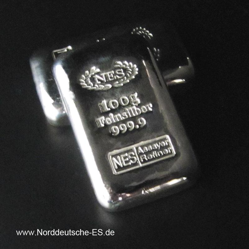 100g-Silberbarren-9999 NES