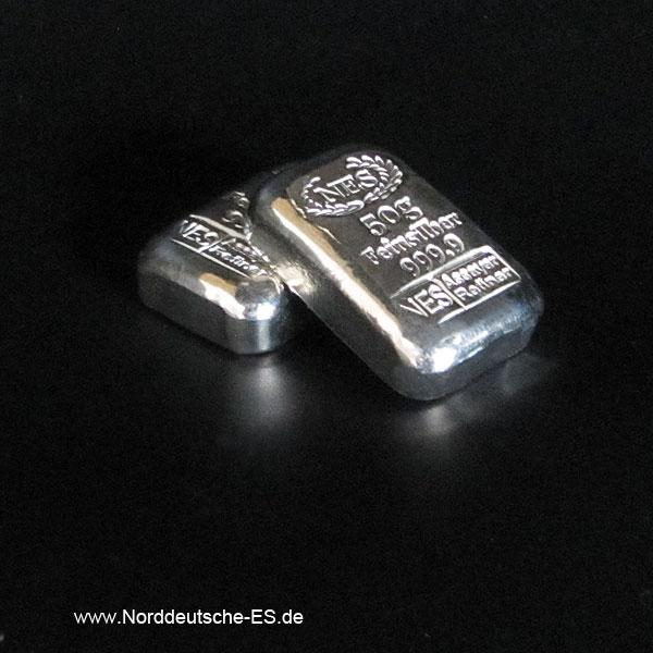 Norddeutsche-ES-50-gramm-Silberbarren-9999
