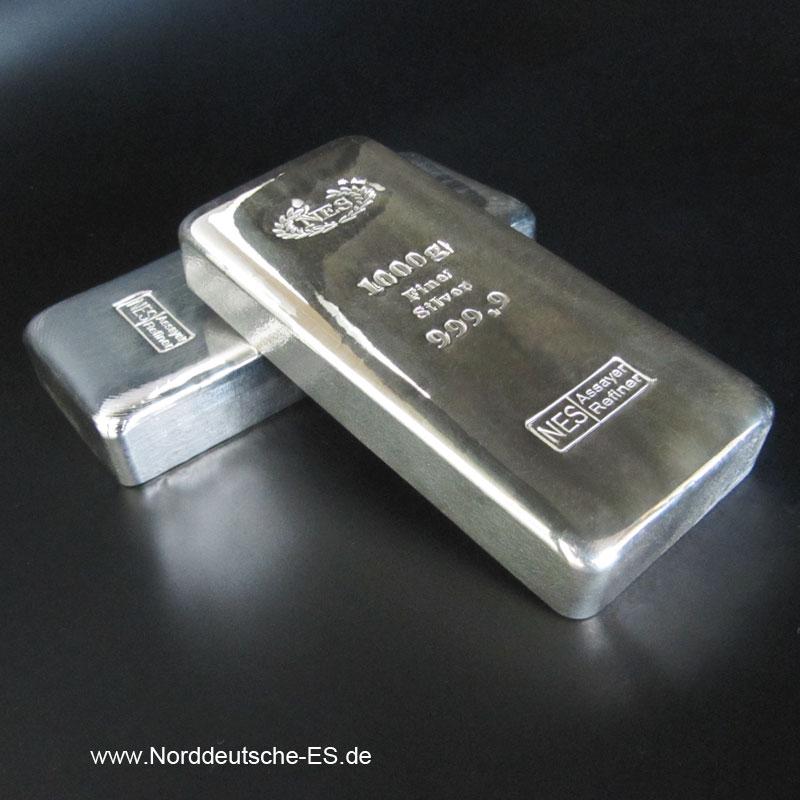 Silberbarren-Norddeutsche-ES-1000g-1-Kg