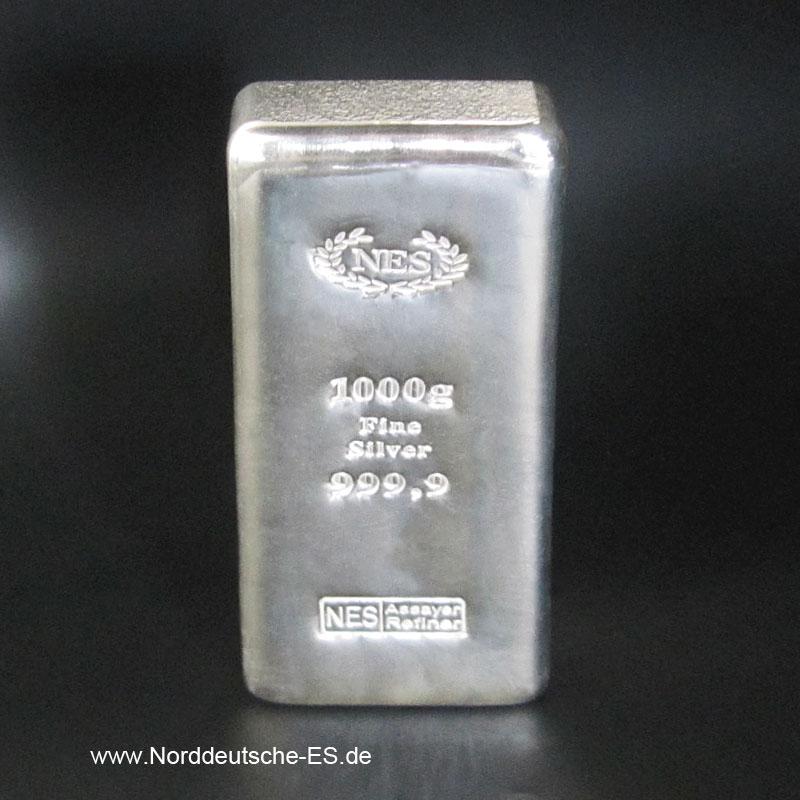 Silberbarren-Norddeutsche-ES-1000g