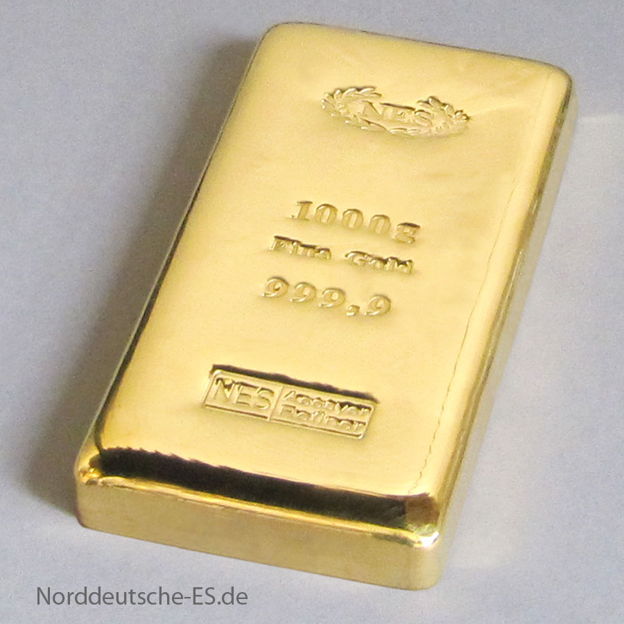 Goldbarren 1Kg-Feingold 9999 NES