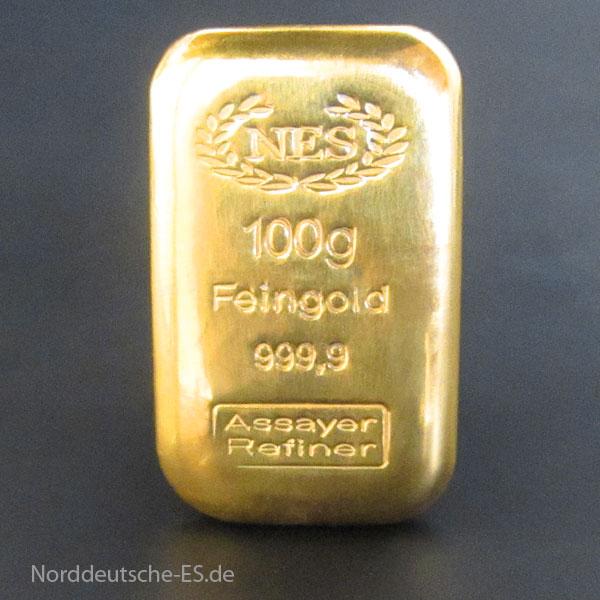 Goldbarren-100g-feingold-9999 NES