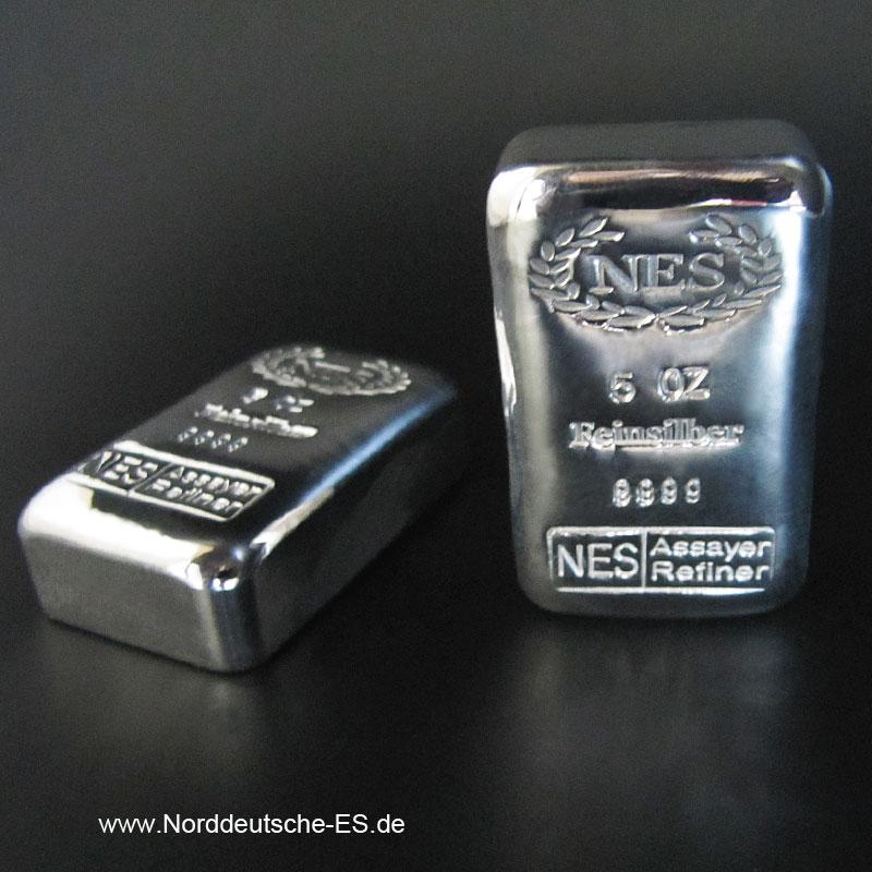 5-Unzen-Silberbarren 999.9-NES