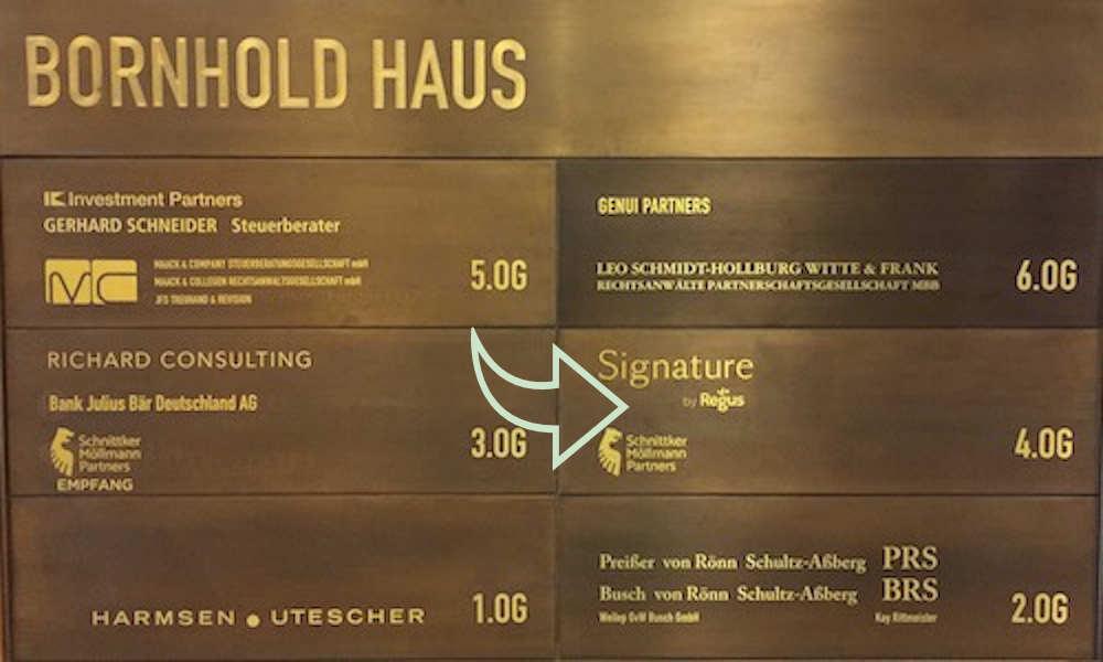 Norddeutsche Edelmetall bei Signature mit Pfeil