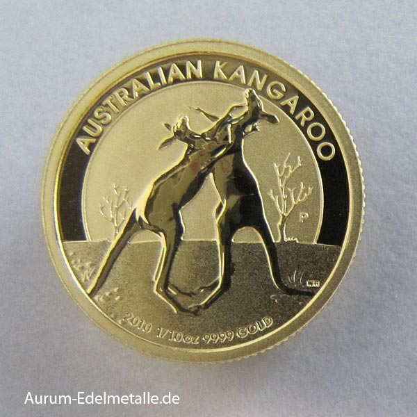 Anlagemünze Australien-Kangaroo-1_10-Goldmuenze-2010