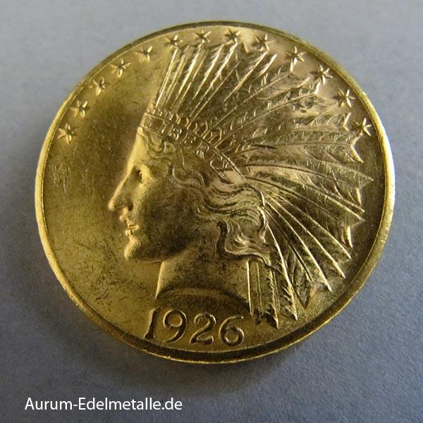 Umlaufmünze USA-10-Dollar-Indian-Head-Gold-1926